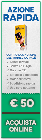 Acquista il tutore MANU per la sindrome del tunnel carpale.